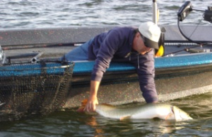 Jim Dembiec's September Milwaukee Chapter outing muskie release