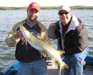 Dan's 35.25 inch outing muskie
