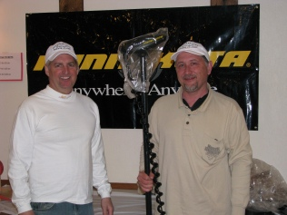 winner Tim Blazek with Bryan Blanke