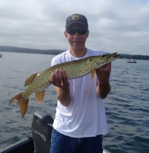 "Jack Mueller's 30"" Muskie Caught during the Veterans Outing"